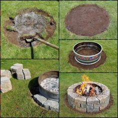 5 Simple and Crazy Ideas: Fire Pit Furniture Tutorials flagstone fire pit design., seating ideas backyard fire pits 5 Simple and Crazy Ideas: Fire Pit Furniture Tutorials flagstone fire pit design. Garden Fire Pit, Fire Pit Backyard, Backyard Patio, Backyard Landscaping, Backyard Fireplace, Outdoor Fire Pits, Patio Fire Pits, Fire Pit Landscaping Ideas, Outside Fire Pits