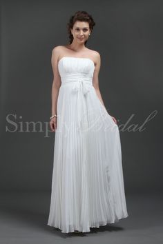 I love this dress for an outdoor wedding - I might ask them to put spaghetti straps on it