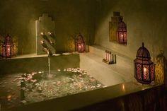 lovely-dwellings:    (via Moroccan Candle Lanterns in bathroom - mediterranean)
