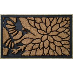 This charming rubber and coir mat has thousands of coir bristles embedded in a rubber base that help capture and remove dirt and moisture from shoes. Guests can comfortably scrape their feet thanks to the very durable construction.