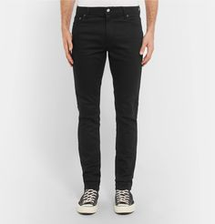 <a href='http://www.mrporter.com/mens/Designers/Acne_Studios'>Acne Studios</a>' 'North' jeans are part of its new 'Blå Konst' line – it serves as a celebration of denim, which is a big part of the Swedish brand's DNA. Designed in the dark 'Stay Black' wash, this pair has been made in Italy from flexible stretch-denim and is cut in a neat slim shape. Wear yours with tees, shirts and hoodies.