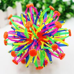 New Baby Kids Toys! Funny Retractable Changeable Magic Ball Hand Catch Training Colorful Flower Ball Indoor Outdoor Play Ball