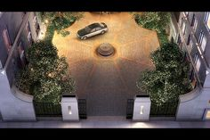 The motor court. Images of the facilities at 15 Central Park West, from the apartment building's own website.