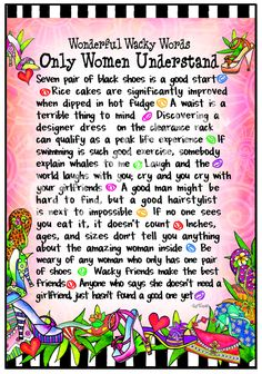 F957 - Only Women Understand 8x10 Gifty Art