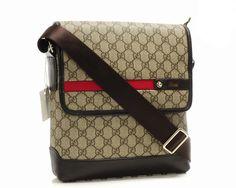 Classic Leather Trim Messenger Bag