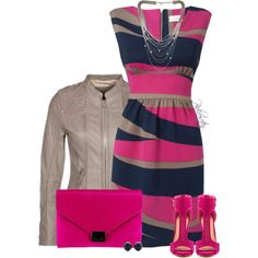 """HOT PINK - bag & shoes"" by pinkroseten on Polyvore"
