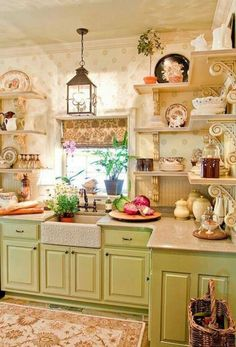 60 Amazing French Country Style Kitchen Decorating Ideas - Page 7 of 33 French Kitchen Decor, Country Kitchen Designs, Modern Kitchen Design, Modern French Country, French Country Kitchens, French Country Decorating, Cocina Shabby Chic, Shabby Chic Kitchen, Cottage Kitchens