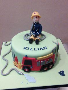 Fireman Sam reporting for cake duty!