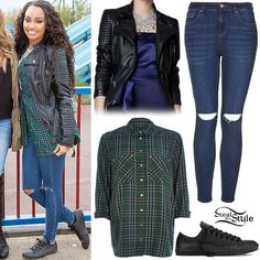 Leigh Anne Pinnock: Leather Jacket, Ripped Jeans