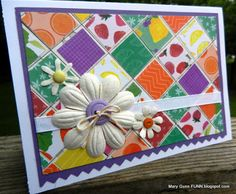 Close To My Heart's Taste of Summer patchwork card by Mary Gunn FUNN