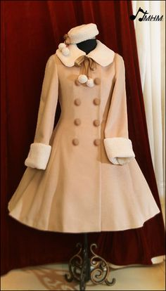 3119be1c105  HMHM 10 Winter  Pink   camel cashmere double-breasted long coat (APH