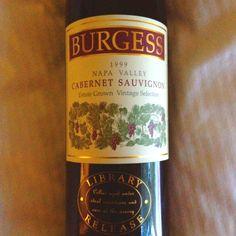 1999 Burgess Cabernet sauvignon