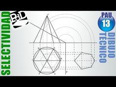 ▶ PAU #013 Sección de pirámide hexagonal (Dibujo Técnico Selectividad - Murcia/2000) - YouTube