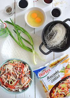 Sajgonki pieczone, NIE smażone - przepyszne i zdrowe, bo pełne warzyw - etap 1