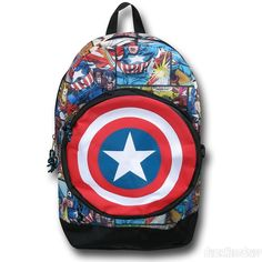 Captain America 3D Shield All-Over Print Backpack