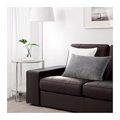 IKEA - KIVIK, Sofa trzyosobowa, Grann/Bomstad ciemnobrązowy, , KIVIK to seria mebli wypoczynkowych z głębokimi, miękkimi siedziskami i wygodnym oparciem dla pleców.Powierzchnie kontaktu pokryto wysokiej jakości skórą licową o grubości 1,6 mm, ktora się starzeje z wdziękiem i nabiera pięknej patyny.Zewnętrzne powierzchnie są pokryte trwałą tkaniną powlekaną, która z wyglądu i w dotyku przypomina skórę.Poduszki siedziska z górną warstwą pianki memory; dopasowują się do kształtów Twojego…