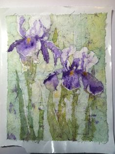 Batik watercolor on rice paper.  Project from Aug 2011 Watercolor Artist: article by Kathie George