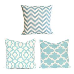 Light Blue Mint Geometric Cushion Cover