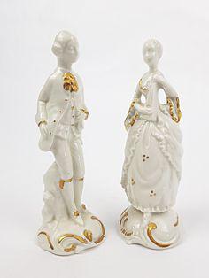 Couple Romantique en porcelaine fine