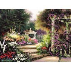 Emerald Garden Canvas Art - Egidio Antonaccio (22 x 28)