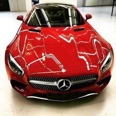 Lady in Mars Red.  #Mercedes #Benz #AMGGT #AMG #GT #instacar #carsofinstagram #germancars #luxury cc: @MercedesAMG