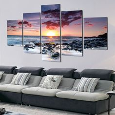 4 Panel Modern Wall Art Home Decoration Painting Canvas Wall Art ...