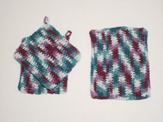 Shades Of Green & Purple Dish Cloths | MY DESIGN APPAREL
