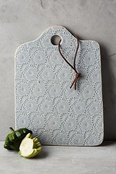 Anthropologie Ceramic Lacework Cheese Board