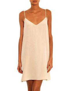 Freda Deep-V silk slip dress