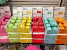 Eos lip balms... Amazing and environmentally friendly. I'll never use Chapstick again! I HAVE TO GET EVERYONE ONE OF THESE