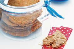 Celebrate Anzac Day with biscuits! We've got plenty of Anzac biscuit recipes, as well as a few ways to use them in tarts or crumbles. You can also find out more about the history of Anzac biscuits. Aussie Food, Australian Food, Anzac Biscuits, Homemade Butter, Australia Day, Food Test, Biscuit Recipe, What To Cook