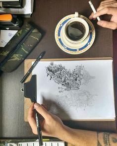 Homrigh & Koseform. Doodle Art em andamento.