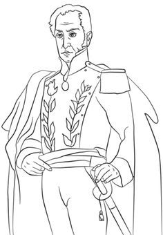 simon bolivar coloring page from famous people category