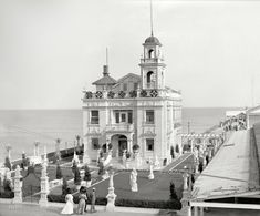 "Atlantic City, New Jersey, circa 1910. ""Young's residence on Million Dollar Pier."" The marble-encrusted Venetian ""villa"" at No. 1 Atlantic Ocean of showman and real-estate developer Captain John Young. Detroit Publishing Co"
