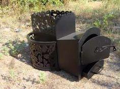 Дровяная каменка для бани (печка для сауны) с выносом
