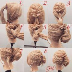 2 Simple Step-by-Step Guides to Braiding Your Hair Work Hairstyles, Pretty Hairstyles, Braided Hairstyles, New Hair Do, Good Hair Day, Medium Hair Styles, Curly Hair Styles, Hair Arrange, Pinterest Hair