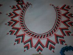 Chaquira Ngobe Indian  Hand Beaded Collar  Necklace