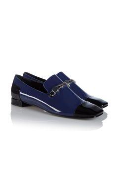 fall 2012, Emporio Armani, shoes, flats, navy