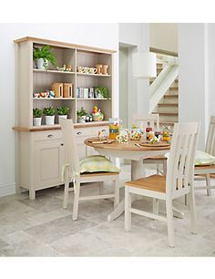 Padstow Extending Round Dining Table | M&S