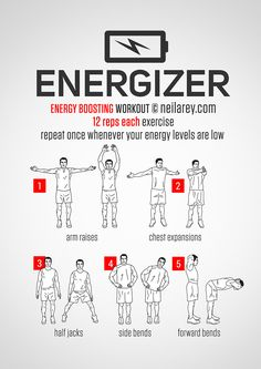 Energizer / Energy Boosting Workout... good for the office