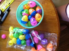 Uppercase/lowercase egg matching activity - great for centers in Kindergarten :) just buy colorful plastic Easter eggs and mix and match. All you need are eggs and a sharpie!