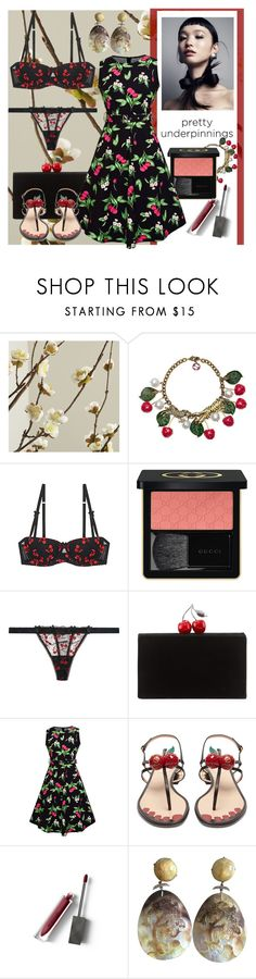 """""""Pretty Poverful"""" by andrea-pok on Polyvore featuring Crate and Barrel, Gucci, Mimi Holliday by Damaris, Edie Parker, WithChic, Burberry and vintage"""