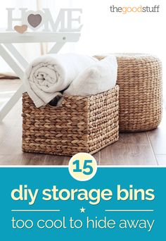 15 DIY Storage Bins Too Cool to Hide Away - thegoodstuff