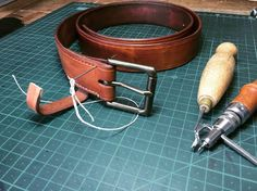 Currently stitching up a bespoke tan belt with some beautiful French linen thread. I got new shoes recently and need a belt to match. Tan Belt, Leather Working, New Shoes, Tan Leather, Bespoke, Hand Sewing, Stitching, French, Band