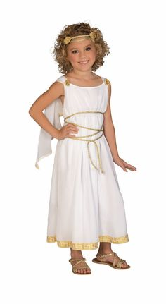 Child Roman Greek Grecian Goddess Toga Costume Halloween