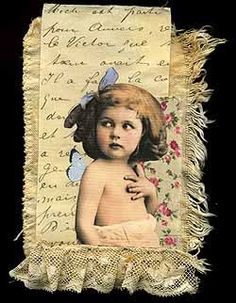 <h3>Little Girl with Butterfly on Shoulder #149 SORRY, THIS IS SOLD