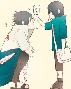 Sasuke and little Itachi.