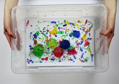 A fun and messy way to create an abstract masterpiece!
