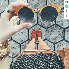 #Repost @zerouv  Flavia is rockin' those retro 70s vibes in her colorful OOTD all the way from Brazil!  #colormeorange #zerouvinmyhands #retrovibes : @fashioncoolture : #zerouv8785