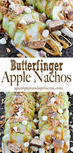 The best DIY projects & DIY ideas and tutorials: sewing, paper craft, DIY. DDIY Food & Recipe For Party Butterfinger Apple Nachos -Read Fruit Recipes, Apple Recipes, Cooking Recipes, Snack Recipes, Sweets Recipes, Recipies, I Love Food, Good Food, Yummy Food